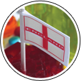 13667/25 England Flag 25mm - 20mtrs