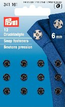 341161 Snap Fasteners - Bx 5