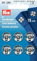 341249 Snap Fasteners - Bx 5