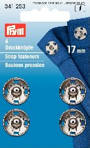 341253 Snap Fasteners - Bx 5