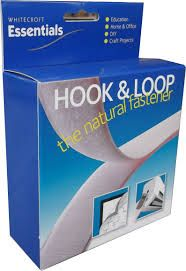 93121 Essentials Economy Stick & Sew Hook & Loop Tape White - 10mtrs Dispenser Box