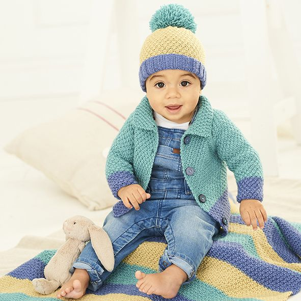 Bambino DK Pattern 9757 Cardigan, Hat and Blanket