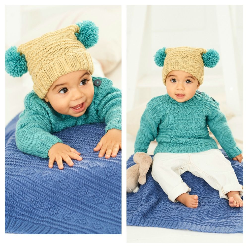 Bambino DK Pattern 9761 Sweater, Hat and Blanket