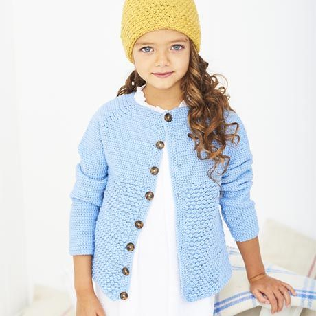 SCP Bambino DK Pattern 9610 Crochet Cardigan and Hat