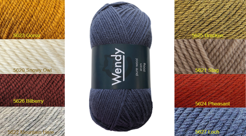 Wendy Pure Wool Aran 200g